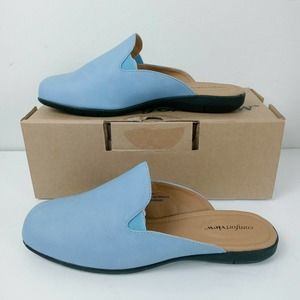 Comfortview Emery french blue slip on mules
